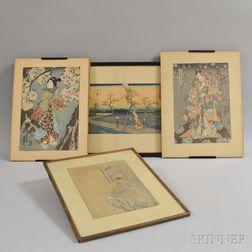 Four Woodblock Prints