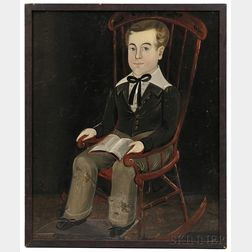 Sturtevant Hamblen (Maine/Massachusetts, act. 1837-1856)      Portrait of a Boy in a Red-painted Rocking Chair