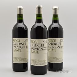 Ridge Cabernet Sauvignon Estate 2011, 3 bottles