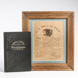 Brevet Brigadier General William Cogswell's Discharge and Memorial Book