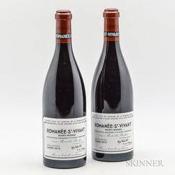 Domaine de la Romanee Conti Romanee St. Vivant 2010, 2 bottles