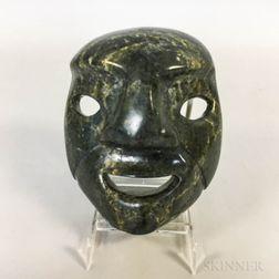 Inuit Carved Soapstone Mask