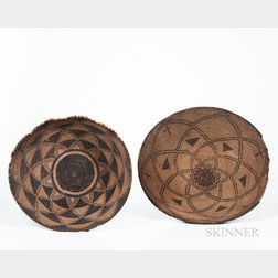 Two Southwest Woven Basketry Trays