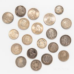Group of Central and South American Crown-sized Coins