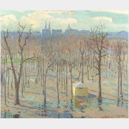 William Samuel Horton (American, 1865-1936)  The Tuileries, Paris