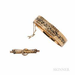 Victorian Gold and Enamel Bracelet