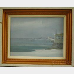 John Mulcahy  (American, b. 1931)      Winter View at Provincetown Harbor