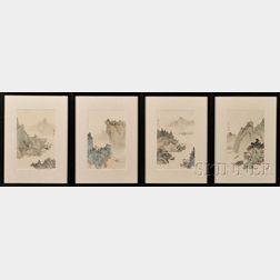 Eight Framed Paintings