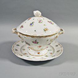 Dresden Porcelain Tureen and Underplate
