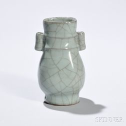 Longquan Celadon Hu   Vase