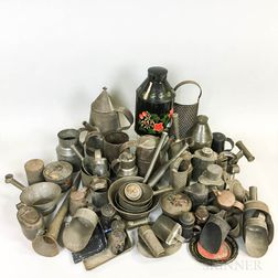 Large Group of Tin Domestic Items