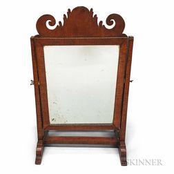 Country Inlaid Mahogany Dressing Mirror