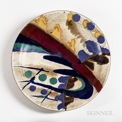 Ken Pick (American, Late 20th/Early 21st Century) Ceramic Charger