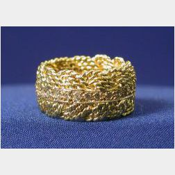 18kt Gold and Diamond Ring, A.G.A. Correa & Son