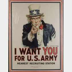 James Montgomery Flagg (American, 1877-1960)  I Want You for U.S. Army