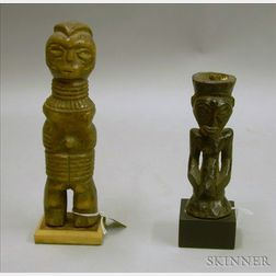 Congolese Carved Wood Figure and a Sudanese Carved Wood Figure