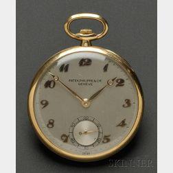 18kt Gold Open Face Pocket Watch, Patek Philippe