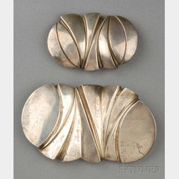 Two Sterling Silver Belt Buckles, Mark Heinlein