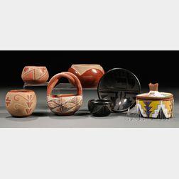Seven Small Southwest Pottery Bowls