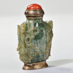 Green Fluorite Stone Snuff Bottle