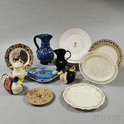 Fifteen Pieces of European Ceramics