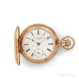 14kt Gold U.S. Watch Co. Hunter-case Watch