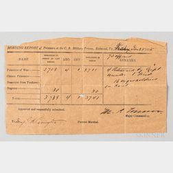 Confederate Prisoner of War Morning Report