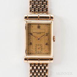 Vacheron Constantin 14kt Gold Tank Wristwatch