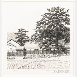Tanaka Ryohei (1933-2019), House with a Big Tree