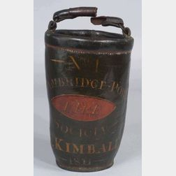 Painted Leather Fire Bucket