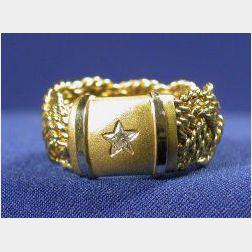 18kt Gold and Diamond Band, A.G.A Correa & Son