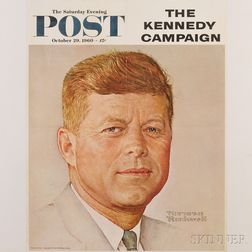 Norman Rockwell Saturday Evening Post The Kennedy Campaign   Advertising   Lithograph Poster