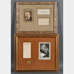 Presidents and World Leaders, Autographs:   Woodrow Wilson, Winston Churchill, Theodore and Franklin Roosevelt