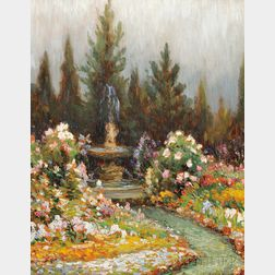 Gustave Wiegand (American, 1870-1957)      Gold Medal Garden at Grand Central Palace