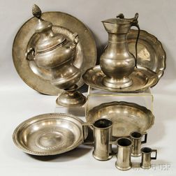 Eleven Pieces of Pewter