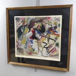 After Wassily Kandinsky (Russian, 1866-1944)      Tableau avec formes blanches