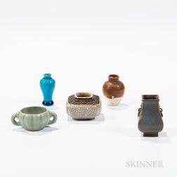 Five Miniature Ceramic Items
