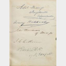 (Autograph Book, the Twenty-sixth Congress of 1840)