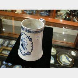 Staffordshire Pearlware Mug Depicting George Washington.