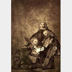 Francisco José de Goya y Lucientes (Spanish, 1746-1828)    Qual la Descanonan!