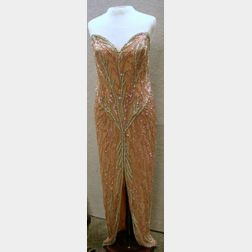 Bob Mackie Boutique Beaded and Sequined Silk Dress