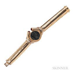 14kt Gold Tubogas Bracelet