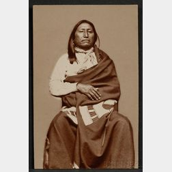 Carte de Visite of Brule Sioux Chief Spotted Tail