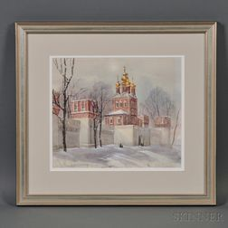 Russian School, 20th Century      Eastern Orthodox Church in Winter