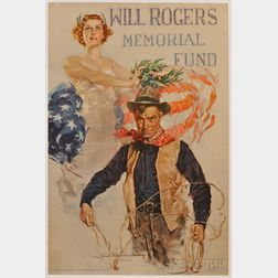Howard Chandler Christy Will Rogers Memorial Fund   Lithograph Poster