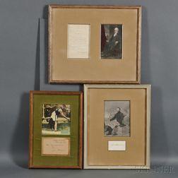 Signatures, Portraits: Jim Thorpe, Ulysses S. Grant, and Daniel Webster.