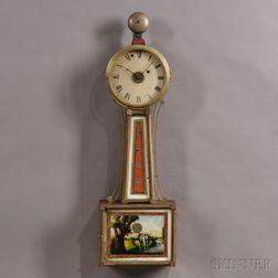 "Aaron Willard Jr. Patent Timepiece or ""Banjo"" Clock with Alarm"