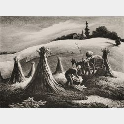 Thomas Hart Benton (American, 1889-1975)      Loading Corn
