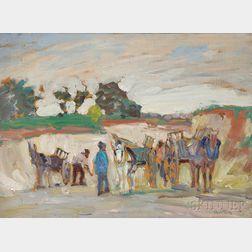 William Samuel Horton (American, 1865-1936)      Quarry at Noiet