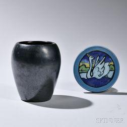 Paul Revere Pottery Tea Tile and Vase